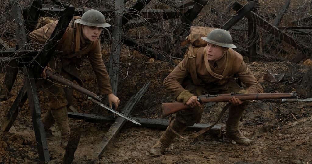 La cinta '1917' cuenta cómo dos jóvenes soldados británicos deben entregar un mensaje, infiltrándose en territorio enemigo en plena guerra mundial.