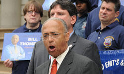 Bill Thompson has tried to strike a more combative tone on the campaign trail recently (Edwin Martinez via Flickr)