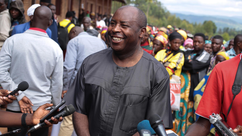 Évariste Ndayishimiye, May 20, 2020, in Giheta, Burundi, after voting.