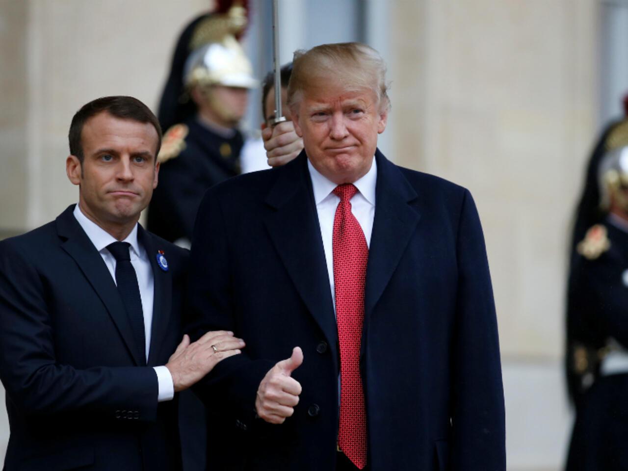 Trump Slams Macron France In Burst Of Tweets After Paris Visit