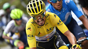 Frenchman Julian Alaphilippe wore the yellow jersey for 14 stages of last year's Tour de France