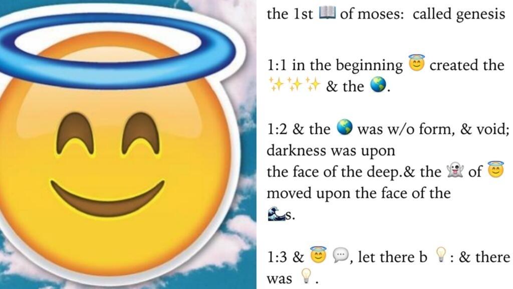 La Bible Existe Desormais En Version Emoji