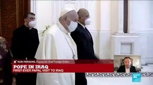 2021-03-05 13:32 'Pilgrim of peace' Pope Francis lands in war-scarred Iraq to rally Christians
