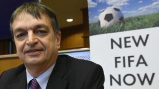 L'ancien secrétaire général adjoint de la Fifa, Jérôme Champagne, le 21 janvier 2015 à Bruxelles.