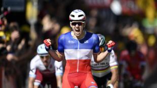 Arnaud Démarre, champion de France en titre, a remporté la 4e étape du Tour de France, mardi 4 juillet.