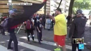 2020-06-01 10:16 Brazil takes to the streets against President Bolsonaro amid Covid-19 pandemic