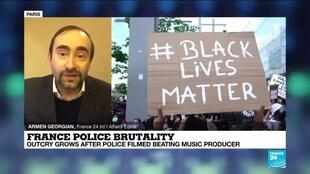 2020-11-27 15:03 French anger after black man beaten echoes US Black Lives Matter movement
