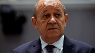 File photo of French Foreign Minister Jean-Yves Le Drian.