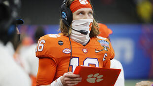 Clemson University quarterback Trevor Lawrence showed off his skills for teams on Friday ahead of the NFL Draft in April