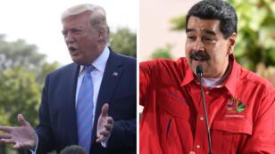 """Donald Trump est décidé à """"mettre fin à la dictature"""" de Nicolas Maduro."""