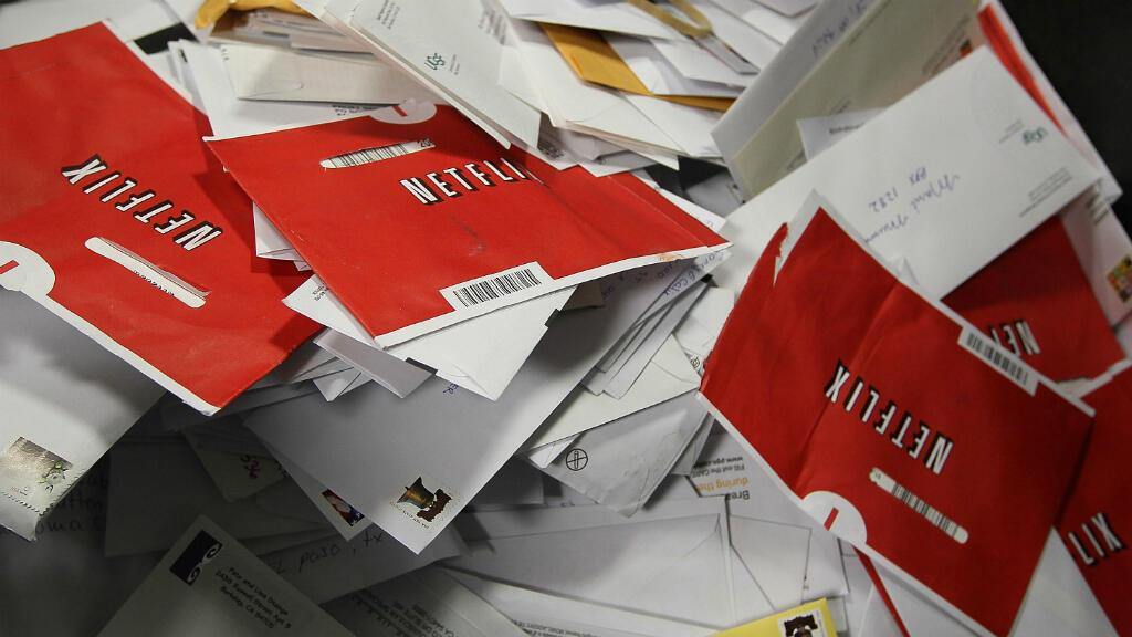 Les enveloppes rouges, qui contiennent les DVD loués par Netflix.