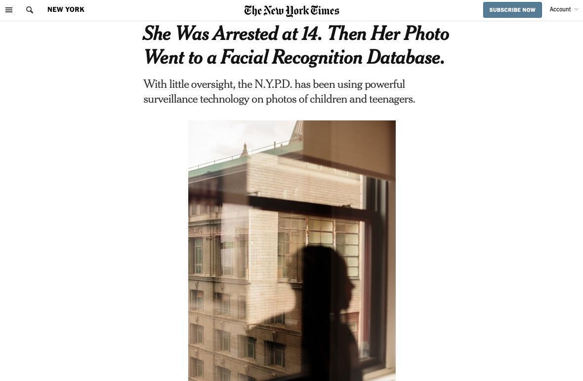 TheNew York Times publicó una serie de denuncias en agosto de 2019 sobre la carga de imágenes de menores detenidos en un sistema similar al cuestionado en Argentina.
