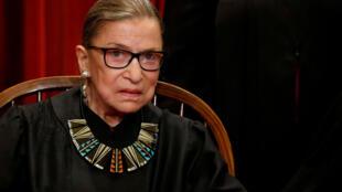 La juge progressiste et doyenne de la Cour suprême américaine, Ruth Bader Ginsburg, le 1er juin 2017 à Washington.