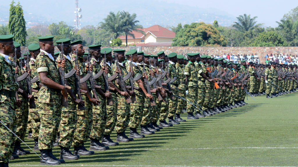Des soldats de l'armée burundaise lors d'une célébration de la fête nationale, le 1er juillet 2016.