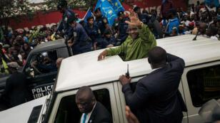 L'opposant Jean-Pierre Bemba, le 23juin2019, à Kinshasa enRDCongo.