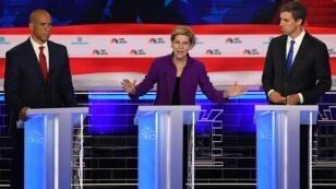 Cory Booker, Elizabeth Warren et Beto O'Rourke figuraient parmi les dix premiers candidats démocrates à débattre mercredi 26 juin 2019 à Miami.
