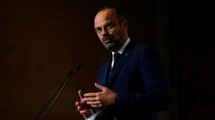 Le Premier ministre Édouard Philippe au Conseil économique, social et environnemental (CESE), à Paris, le 12 septembre 2019.