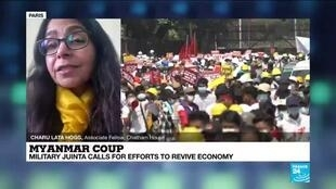 2021-02-23 13:38 Myanmar coup, military junta calls for efforts to revive economy