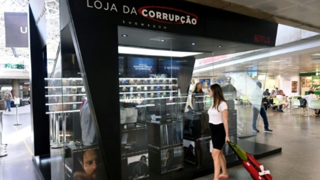 Netflix pokes fun in Brazil with 'corruption shops'
