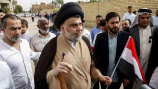 L'imam chiite Moqtada al-Sadr, le 12 mai 2018, à Najaf.