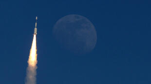 A military communication satellite is launched into orbit.