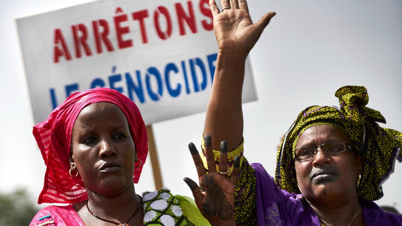 Marche organisée à Bamako le 30juin2018 en réponse au massacre de Koumaga.