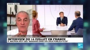 """2020-07-14 17:01 Interview du 14 juillet : Emmanuel Macron veut des """"masques dans les lieux publics clos"""""""