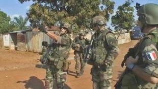 L'armée française dans les rues de la capitale centrafricaine.