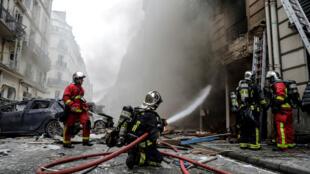 Une forte explosion s'est produite dans une boulangerie, le 12 janvier 2019, dans le 9earrondissement de Paris.