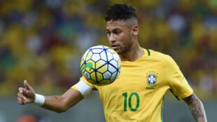 Neymar, star du FC Barcelone et de la Seleçao.
