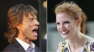 Mick Jagger et Jessica Chastain.