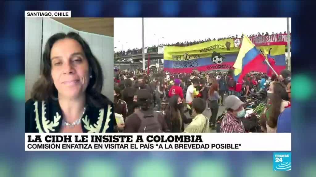 """2021-05-26 01:08 Antonia Urrejola: """"Desde la CIDH se ha reiterado la importancia de visitar Colombia cuanto antes"""""""