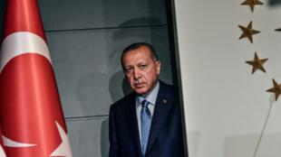 Le président turc Recep Tayyip Erdogan à Istanbul, après sa victoire à l'élection présidentielle du 25 juin 2018.