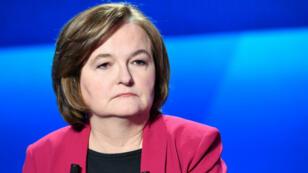 Nathalie Loiseau, le 4 avril 2019, lors du débat entre les têtes de liste françaises aux élections européennes sur France 2.