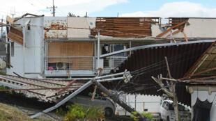 Un appartement endommagé par le typhon Jongdari, dans la ville de Nara, au Japon, le 29 juillet.