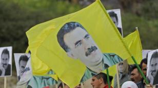 Une manifestation kurde réclamant la remise en liberté d'Abdullah Ocalan, à Beyrouth, au Liban, le 15 février 2019.