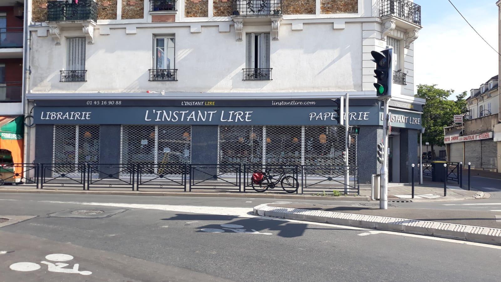 La librairie L'instant lire, située dans le centre-ville de Champigny-sur-Marne, en région parisienne.
