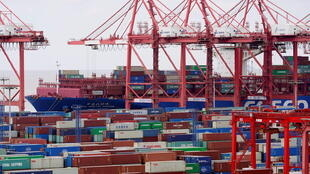 Containers are seen at the Yangshan Deep Water Port in Shanghai, China, as the coronavirus disease (COVID-19) outbreak continues, October 19, 2020.