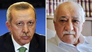 Recep Tayyip Erdogan et Fethullah Gülen sont en conflit ouvert depuis qu'a éclaté le scandale de corruption visant des proches de l'actuel président turc.