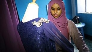 Hawa Adan Hassan, a 23-year-old Somali fashion designer, is self-taught from watching fashion shows on TV