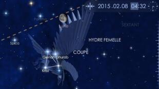 """Capture d'écran d'un instant de découverte de la constellation du corbeau dans """"Star Warlk 2"""""""