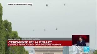2020-07-14 11:27 Cérémonie du 14 juillet : un hommage aux hélicoptères engagés pendant la crise du Covid-19