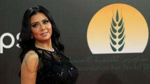 La actriz egipcia Rania Youssef asiste a la ceremonia de clausura de la 40ª edición del Festival Internacional de Cine de El Cairo en la Ópera de El Cairo, Egipto, 29 de noviembre de 2018.