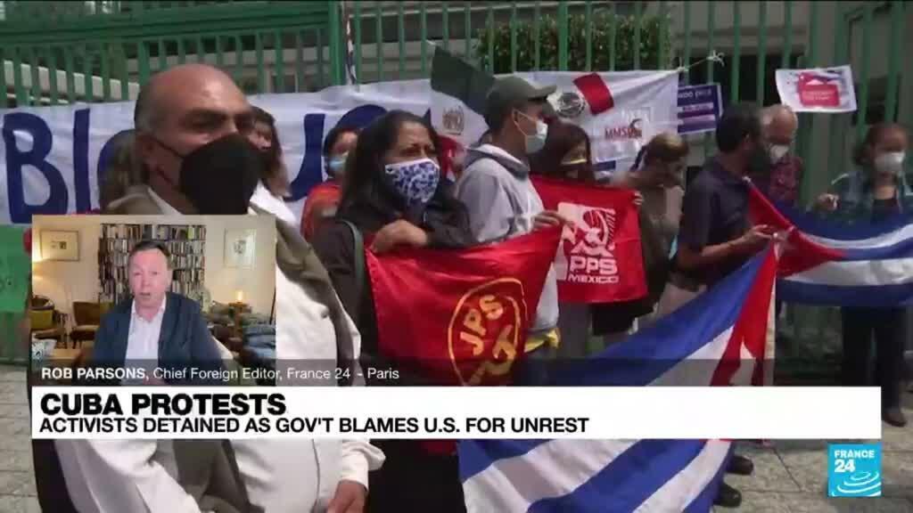 2021-07-13 08:09 Cuba blames US for unprecedented anti-government protests