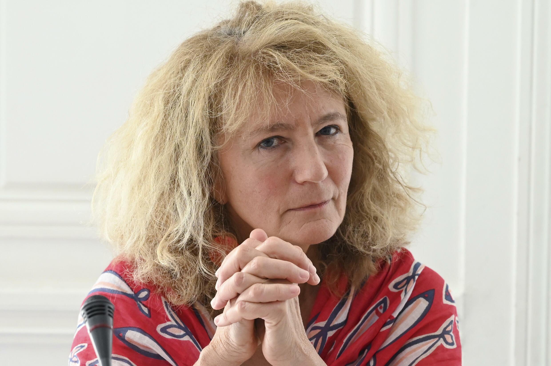 La députée du Bas-Rhin Martine Wonner lors d'une conférence de presse à Paris le 21 juillet 2021