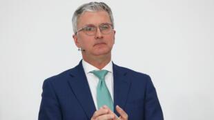 El CEO de Audi Rupert Stadler, en la conferencia de prensa anual de la compañía, en Ingolstadt, Alemania, el 15 de marzo de 2018.