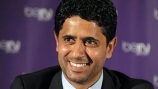 رئيس نادي باريس سان جرمان، القطري ناصر الخليفي.