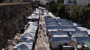 Le camp de Souda, sur l'île de Chios en Grèce, le 13 octobre 2016.