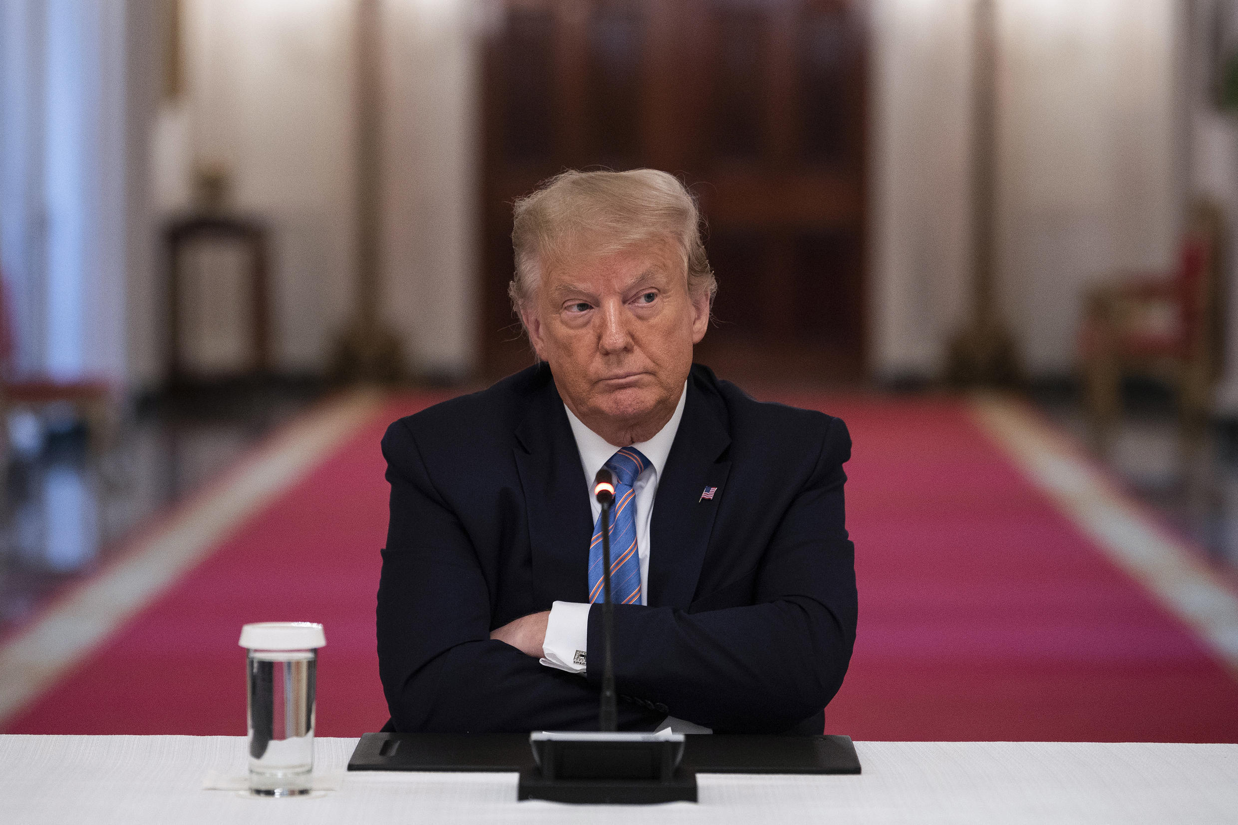 US President Donald Trump during a White House roundtable discussion on the Safe Reopening of America's Schools on July 7, 2020.