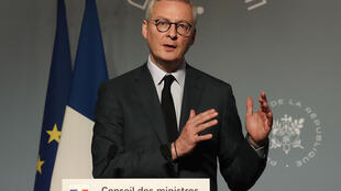 File photo of French Finance Minister Bruno Le Maire